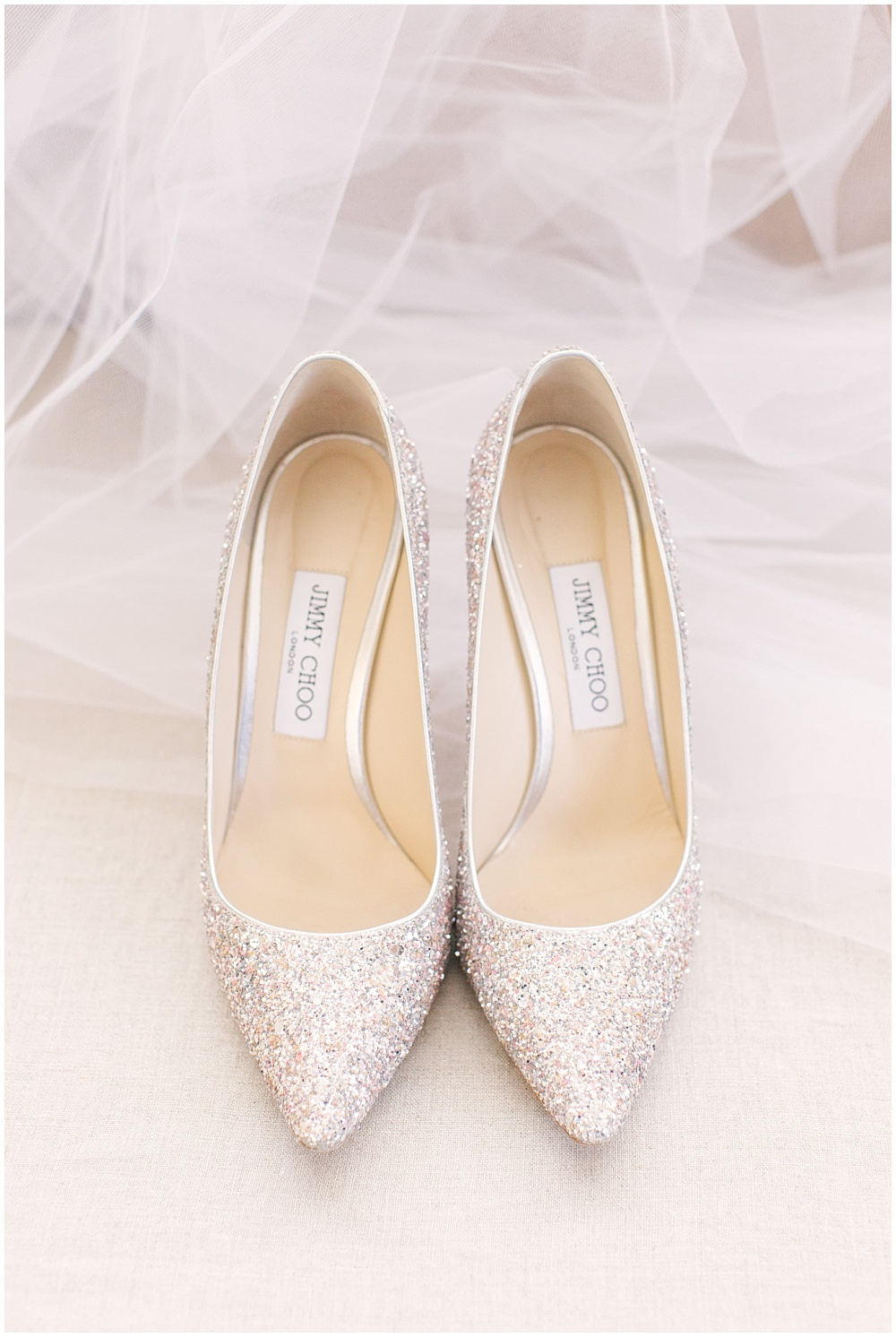 gold jimmy choo shoes; bridal shoes; Navy + blush wedding; Scottish Rite Cathedral Indianapolis | Traci & Troy Photography and Jessica Dum Wedding Coordination