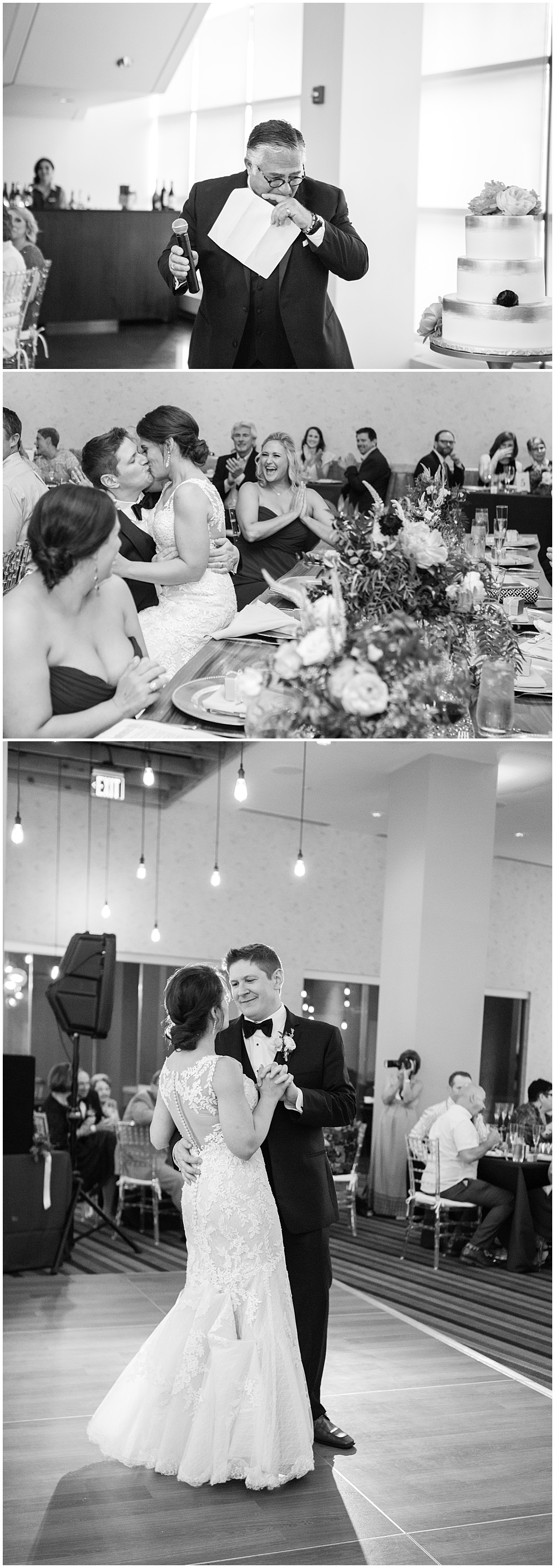 Bride and groom, First dance, Colorful, modern wedding at The Alexander Hotel | Conforti Photography and Jessica Dum Wedding Coordination