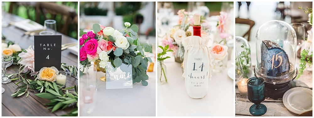 Wedding reception decor ideas that make a big impact | table number ideas, unique table numbers, quartz table table numbers, acrylic table numbers, modern table numbers