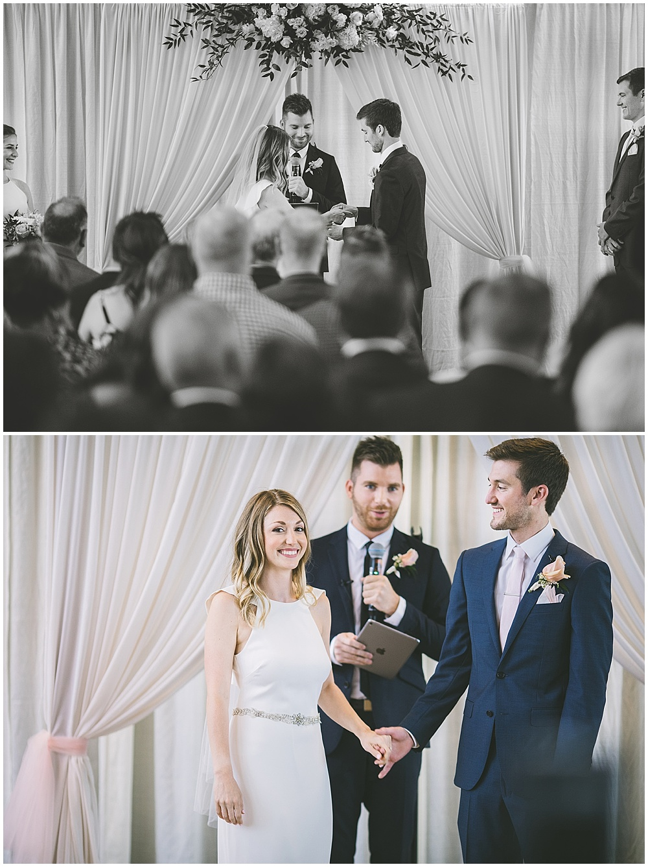 A garden-inspired Purdue University wedding | Purdue alumni wedding, shively club wedding, boilermaker wedding, blush wedding