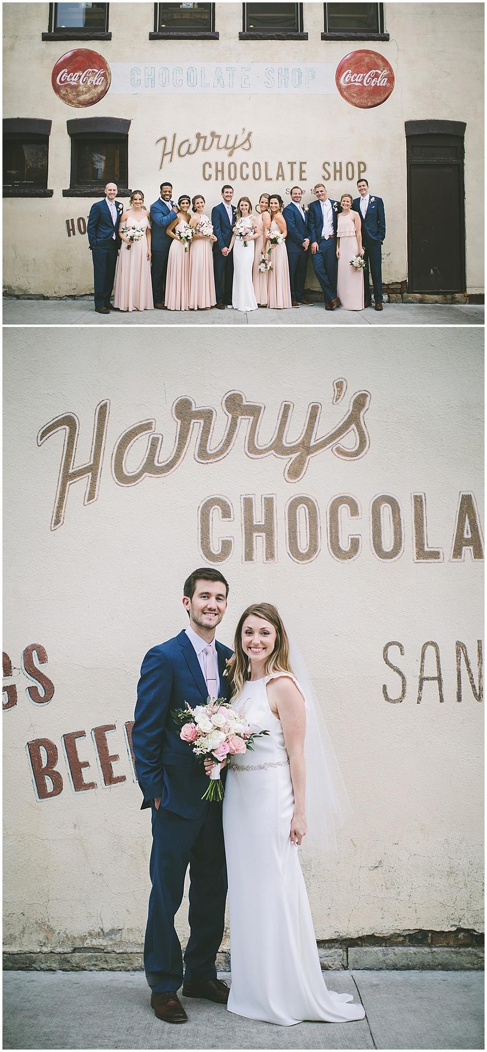 A garden-inspired Purdue University wedding | Purdue alumni wedding, shively club wedding, boilermaker wedding, blush wedding, harry's chocolate shop, bridal party portraits