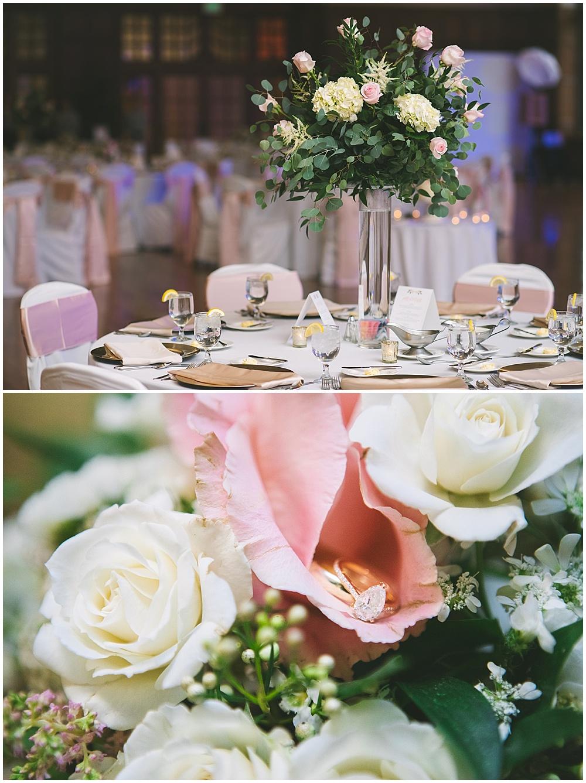A garden-inspired Purdue University wedding | Purdue alumni wedding, shively club wedding, boilermaker wedding, blush wedding, blush wedding details