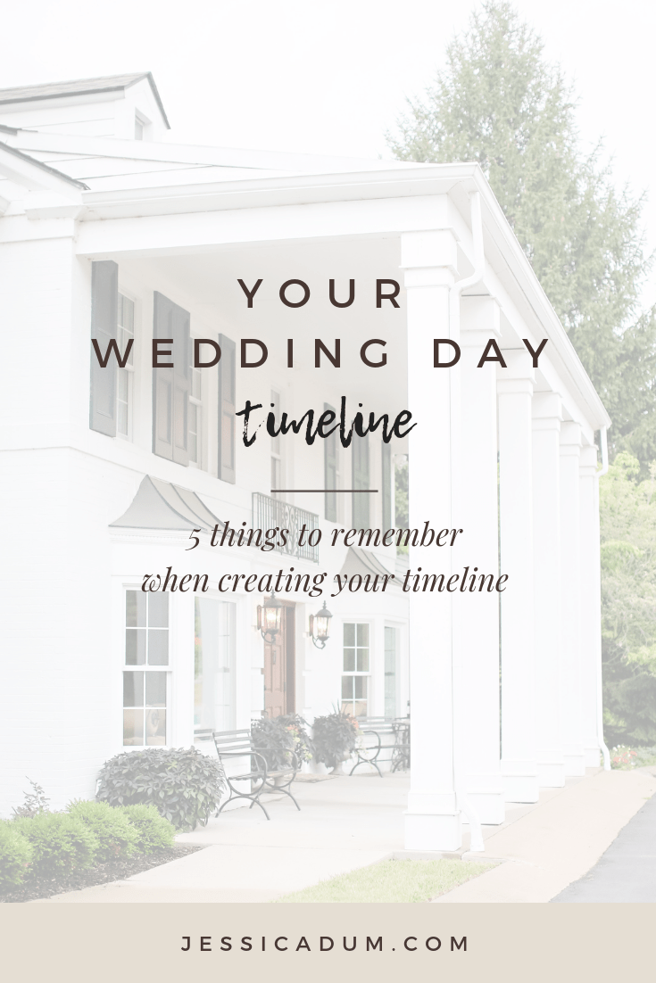 5 Tips for your Wedding Day Timeline - What to keep in mind when creating your wedding timeline.