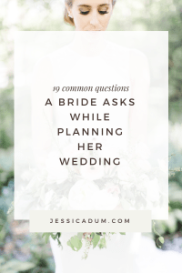19 common wedding planning questions brides while planning her wedding - FAQ's wedding planners receive often from their couples.