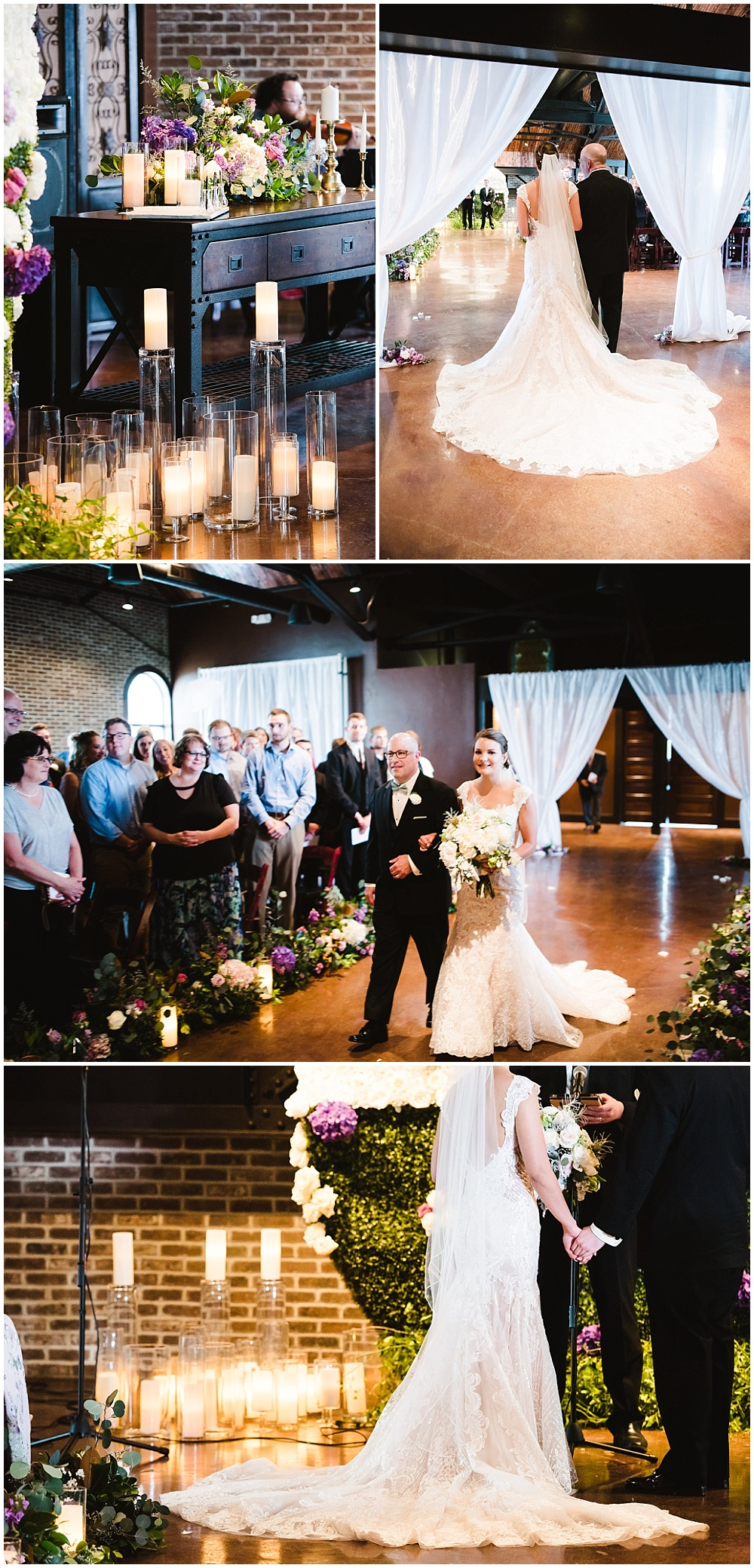 A floral-filled industrial wedding at Canal337 in downtown Indianapolis | Jessica Dum Wedding Coordination
