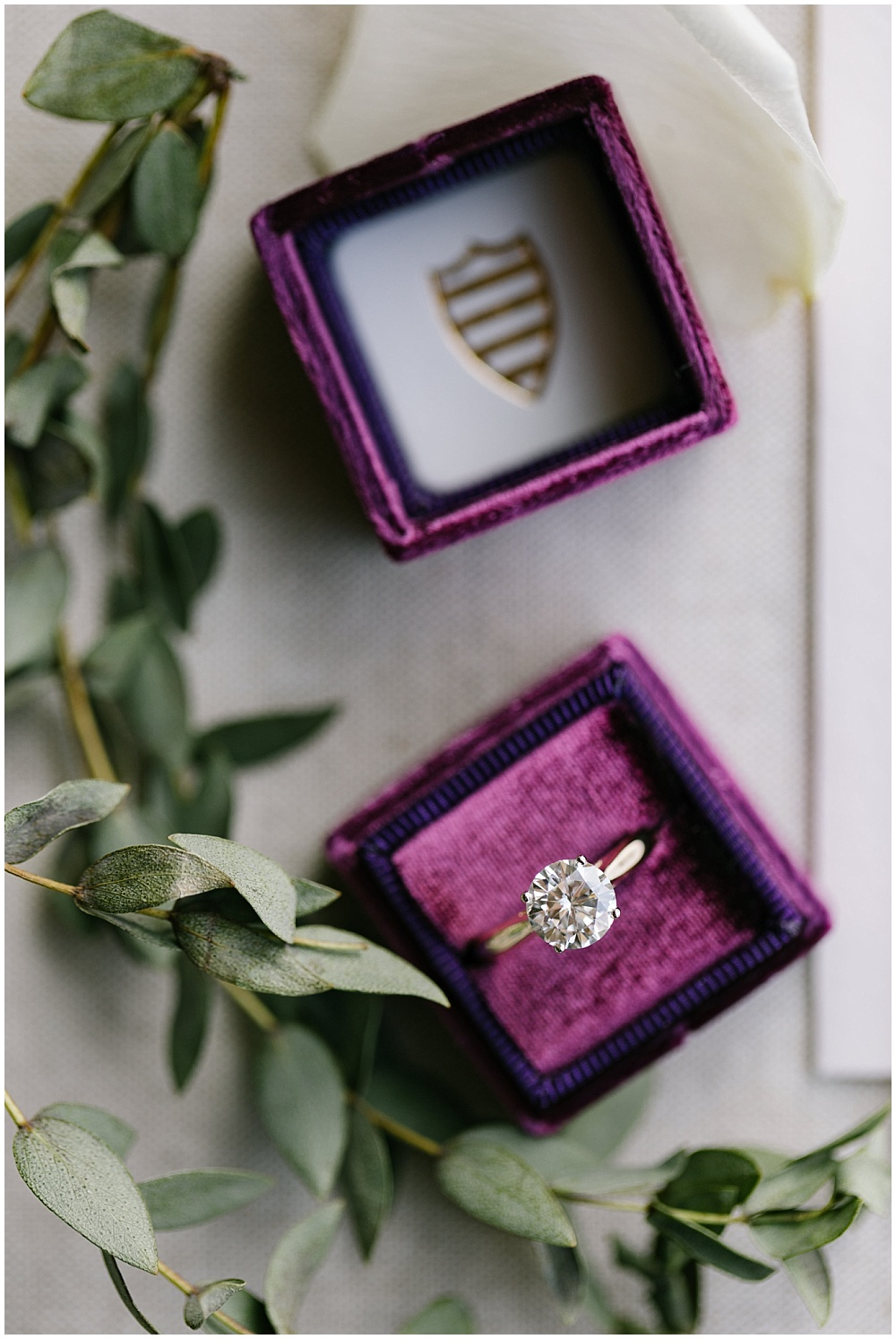 A custom purple velvet ring box | Daniel's Vineyard wedding with Ivan & Louise + Jessica Dum Wedding Coordination