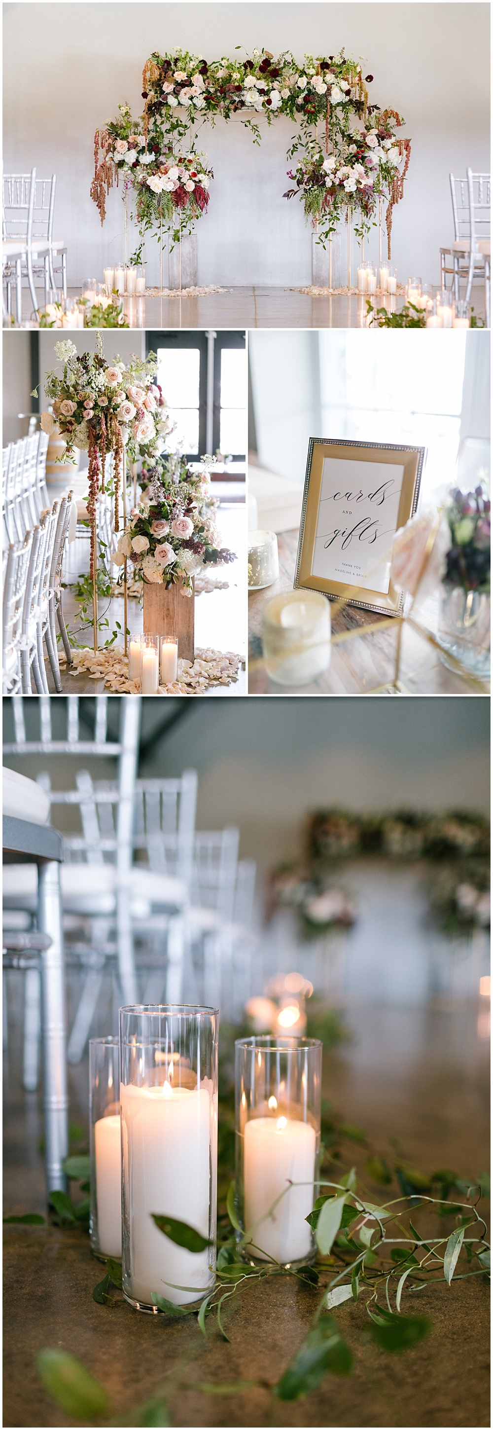 Rose quartz inspired wedding ceremony with a lush floral ceremony arch | Daniel's Vineyard wedding with Ivan & Louise + Jessica Dum Wedding Coordination
