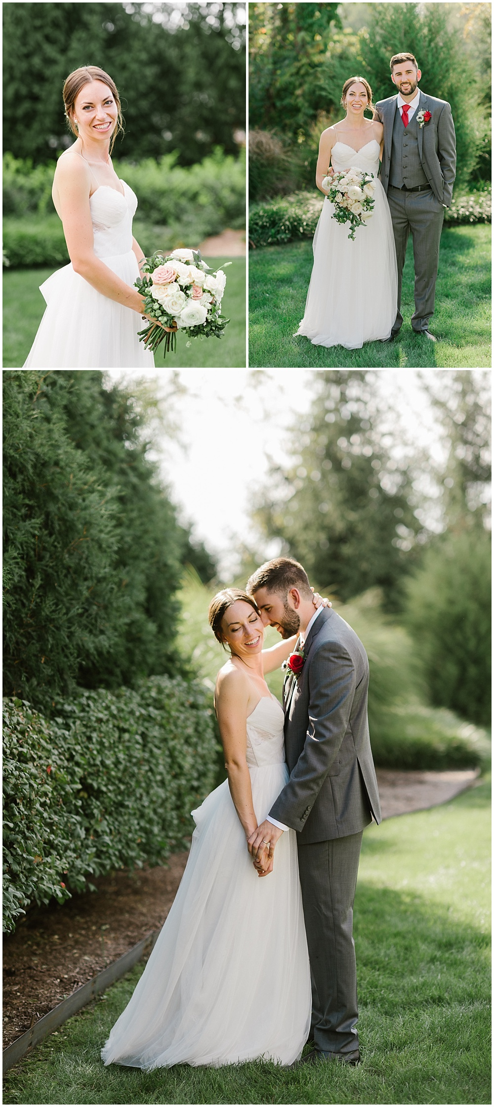 Bride and groom portraits Fall garden-inspired wedding at the Ritz Charles Garden Pavilion in Carmel, Indiana | Jessica Dum Wedding Coordination