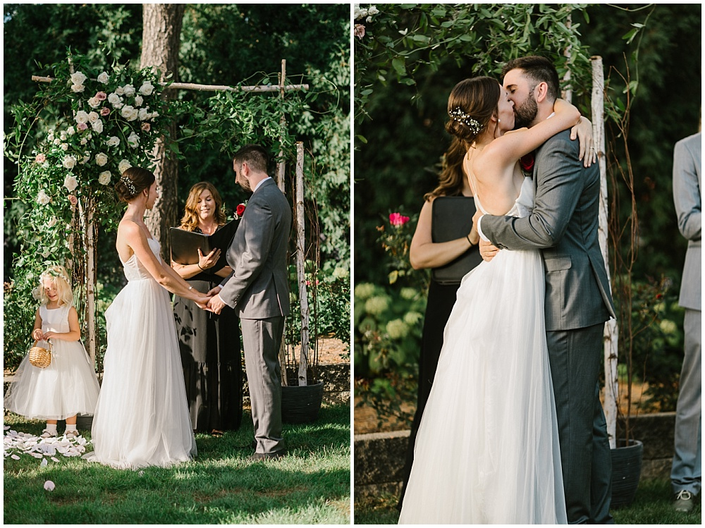 Outdoor garden ceremony Fall garden-inspired wedding at the Ritz Charles Garden Pavilion in Carmel, Indiana | Jessica Dum Wedding Coordination