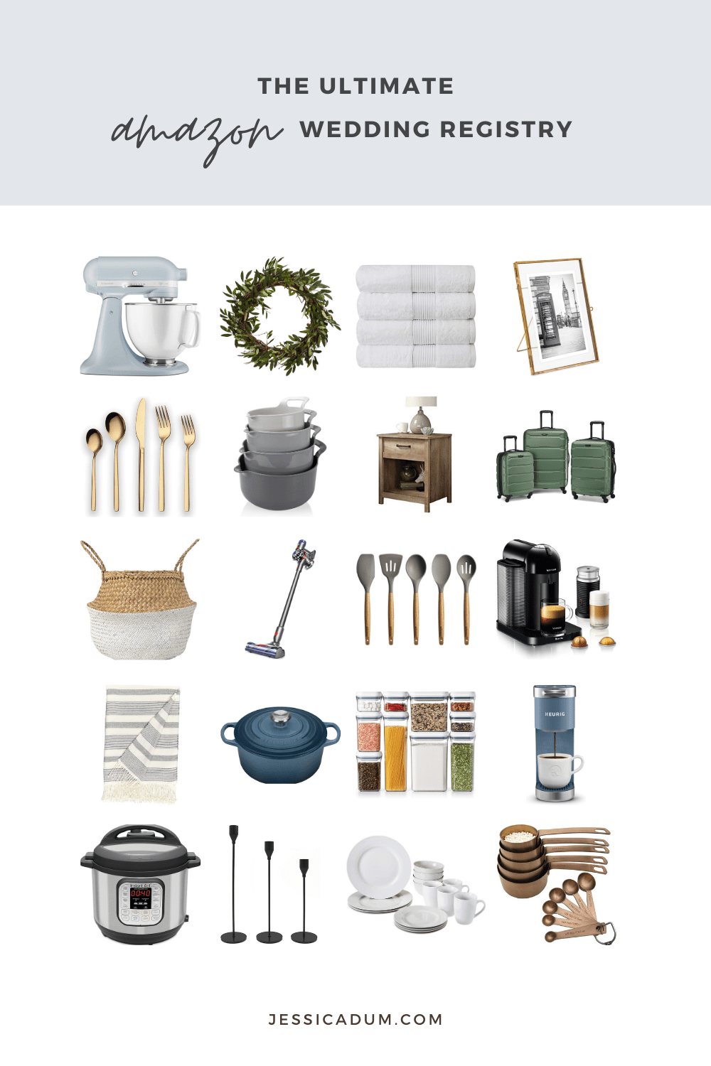 Creating a wedding registry can oftentimes be a daunting task, but today we're sharing the ultimate guide to creating your Amazon wedding registry with 60 must-have items you're sure to love for your new home and life together as a newly married couple!