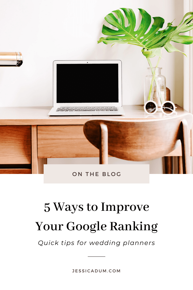 Whether we're new in business, or several years in, SEO should be top of mind if we want to increase our visibility, get our name out there and reach our ideal clients. On the blog, we're sharing 5 quick ways to improve your Google ranking and increase visibility today!