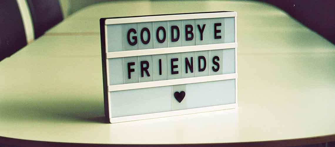 News and goodbye
