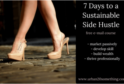 7 days to a new side hustle, urban20something.com, how to start a side hustle, side hustle start guide, gratitude, empowerment, success, jessicafwalker.com