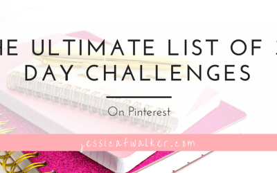 Ultimate List of 30 Day Challenges on Pinterest + GIVEAWAY
