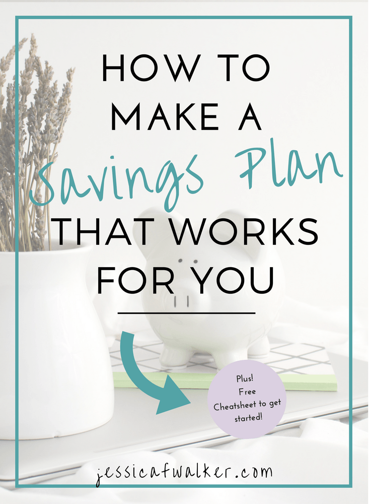 How to save money, how to start a savings plan, how to save for travel, need to save $1000, money saving tips, apps to save money, digit.co, stash app, acorns app, short term savings plan, saving plan cheat sheet, how can I save more money, how can I save money when I'm broke, I need to save money for traveling, jessicafwalker.com, gratitude, empowerment, success