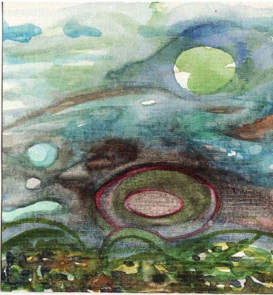 watercolour ovoids on paper, 2010.