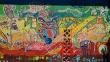 colourful Maori art