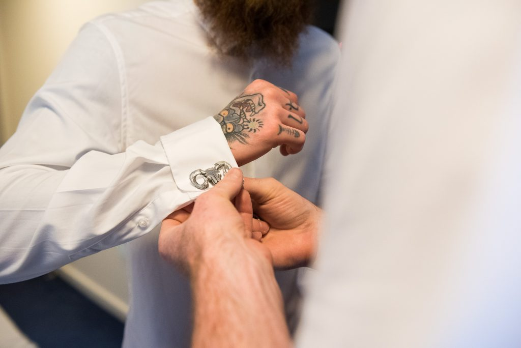 Groom wedding prep pre wedding photography Berkshire