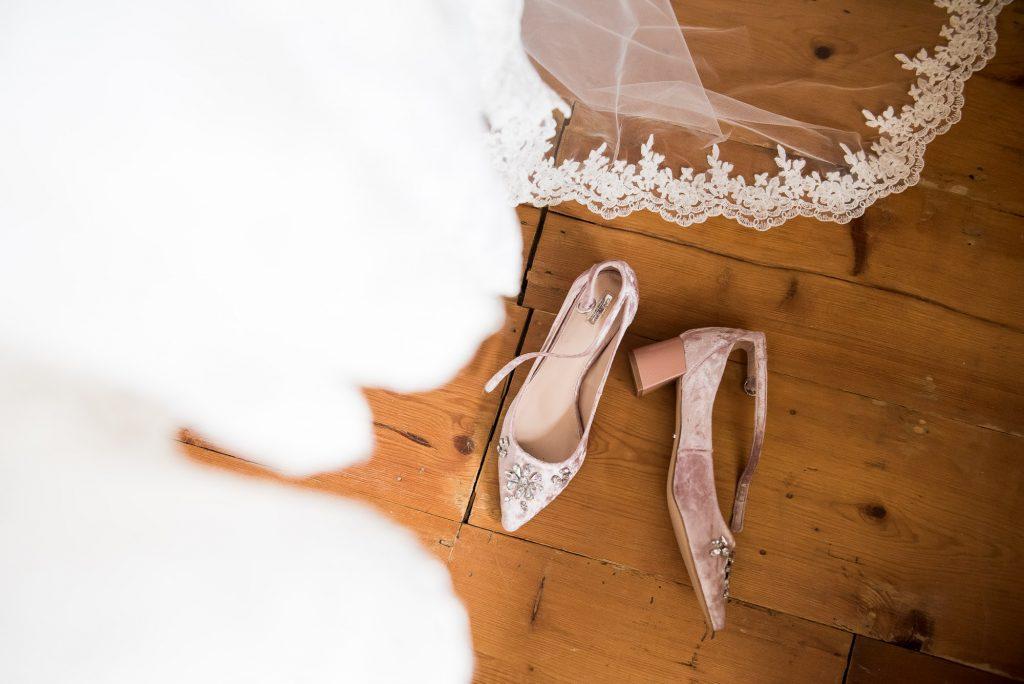 Carvela bridal shoes pre wedding photography