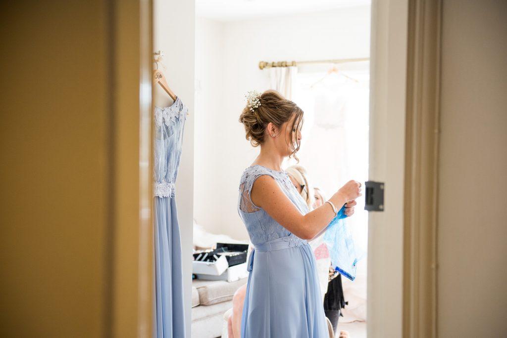 Navy blue bridesmaid pre wedding photography
