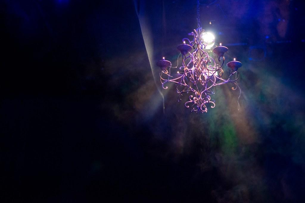 Creative lighting theatre wedding Berkshire