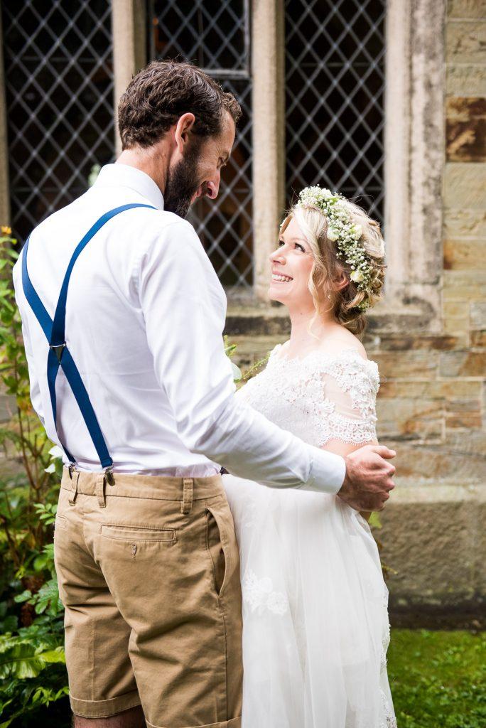 Natural wedding portrait photography Cornwall