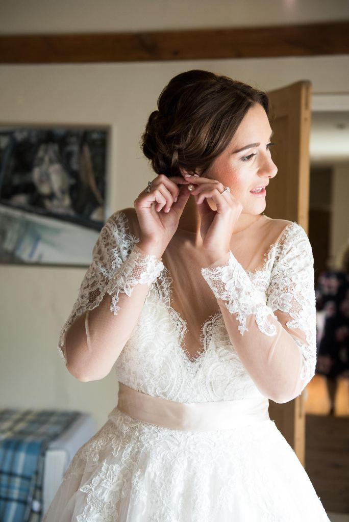 Jay West Bride with natural hair and make up by Amanda Steed Norfolk
