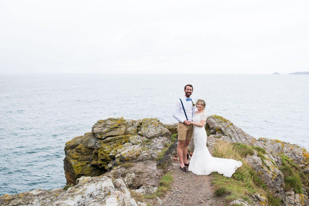 Rustic beach wedding St Agnes Cornwall