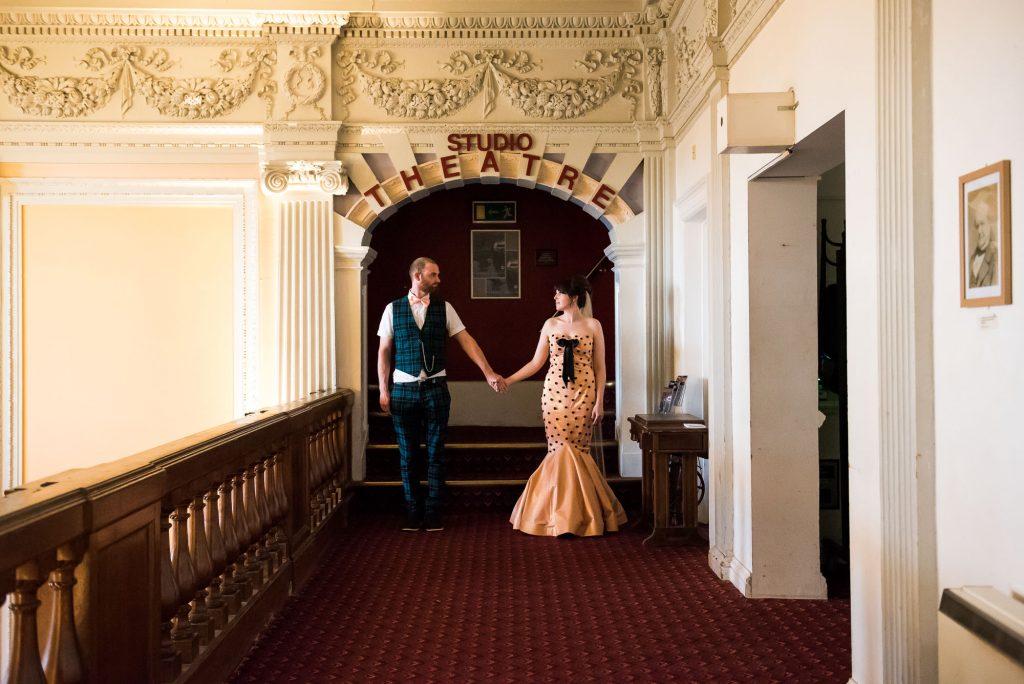 Wilde Theatre wedding portrait Berkshire