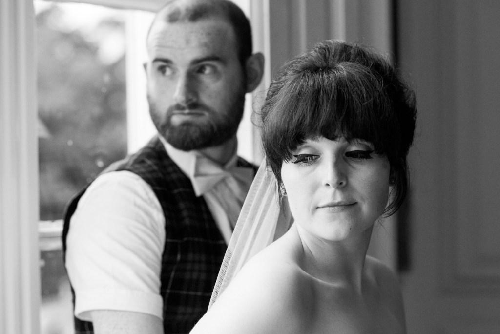 Creative wedding portrait Berkshire