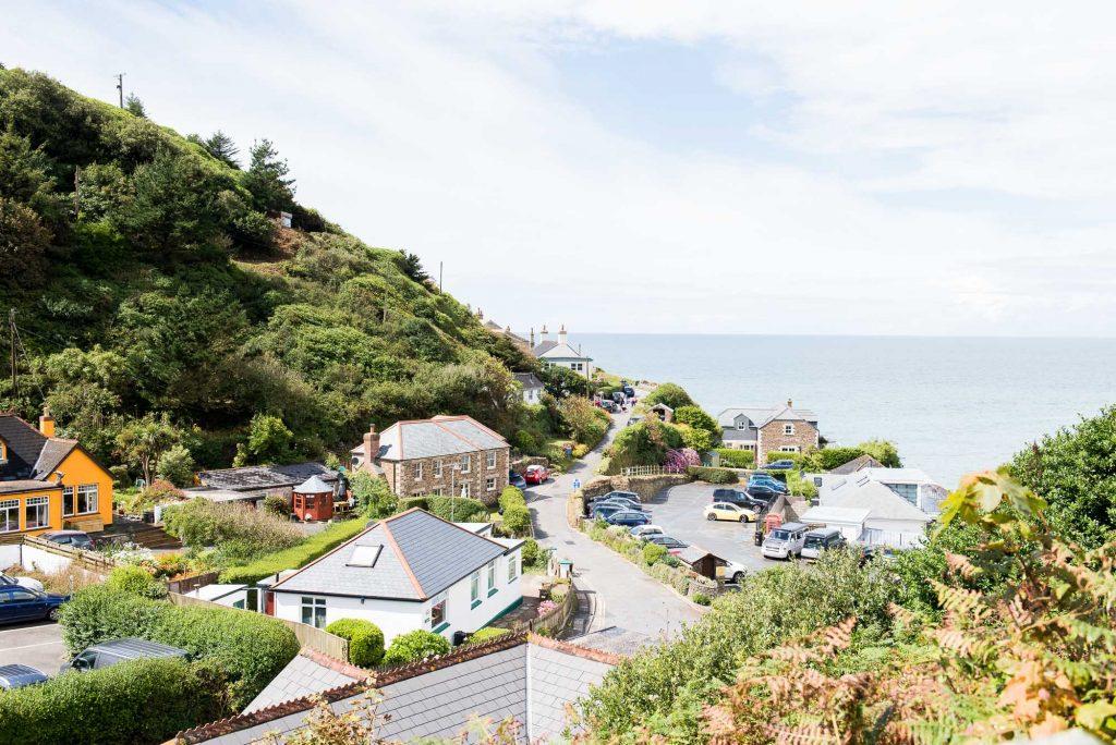 Sunny beach St Agnes Cornwall