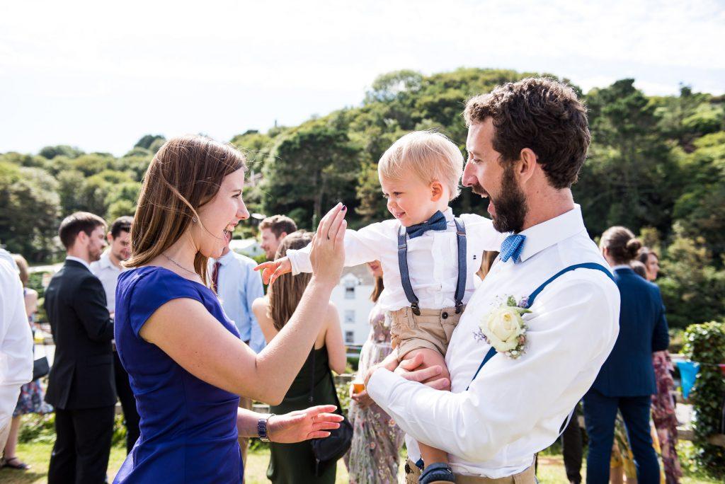 Natural happy wedding photography Cornwall
