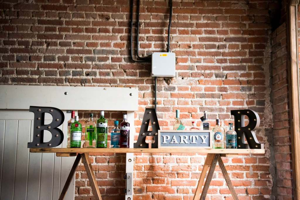 Bar party wedding sign Norfolk