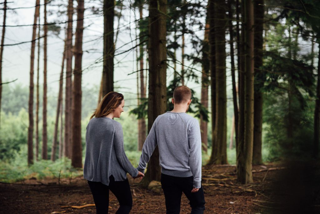 Forest engagement photography Surrey