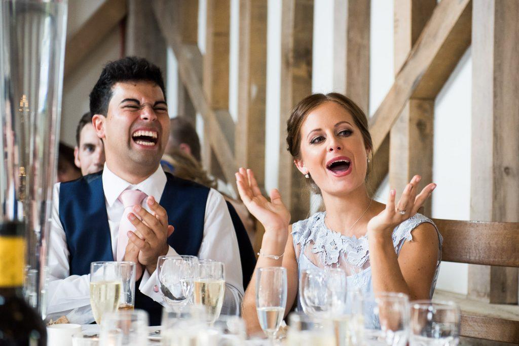 Fun wedding speech reactions