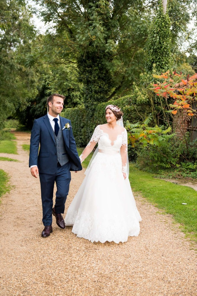 Natural wedding portrait with Calvin Klein groom and Jay West Bride Norfolk