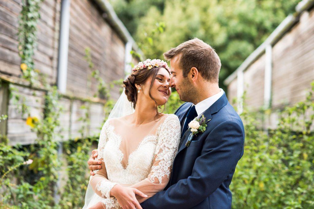 Beautiful wedding portrait bride wearing Jay West Bridal dress Norfolk