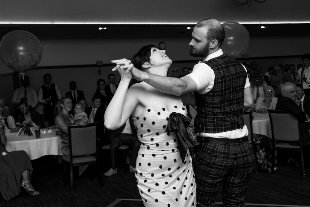 First dance for alternative bride with groom