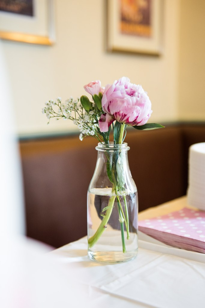 Gorgeous pink peony flower decoration