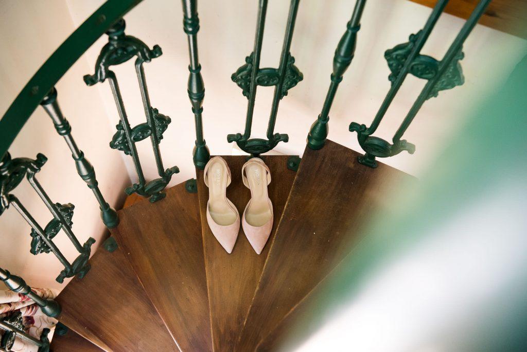 Creative wedding bridal prep photography