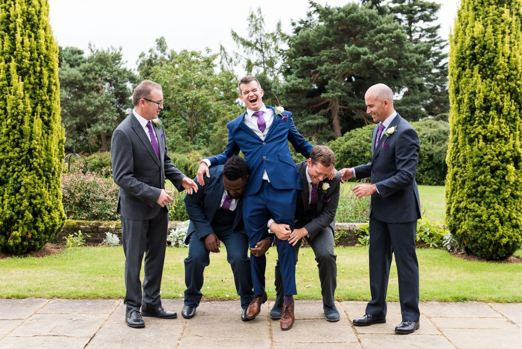 Creative wedding group photographs Surrey wedding