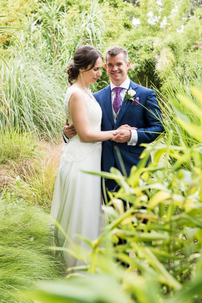 Smiling groom and bride Surrey wedding photography