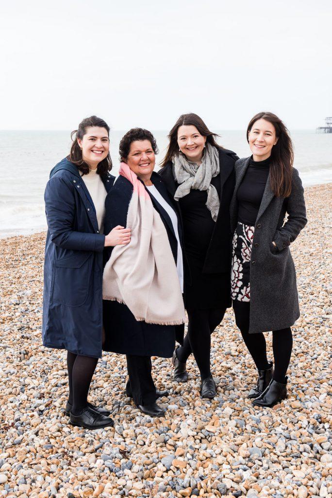 Natural family portrait Brighton