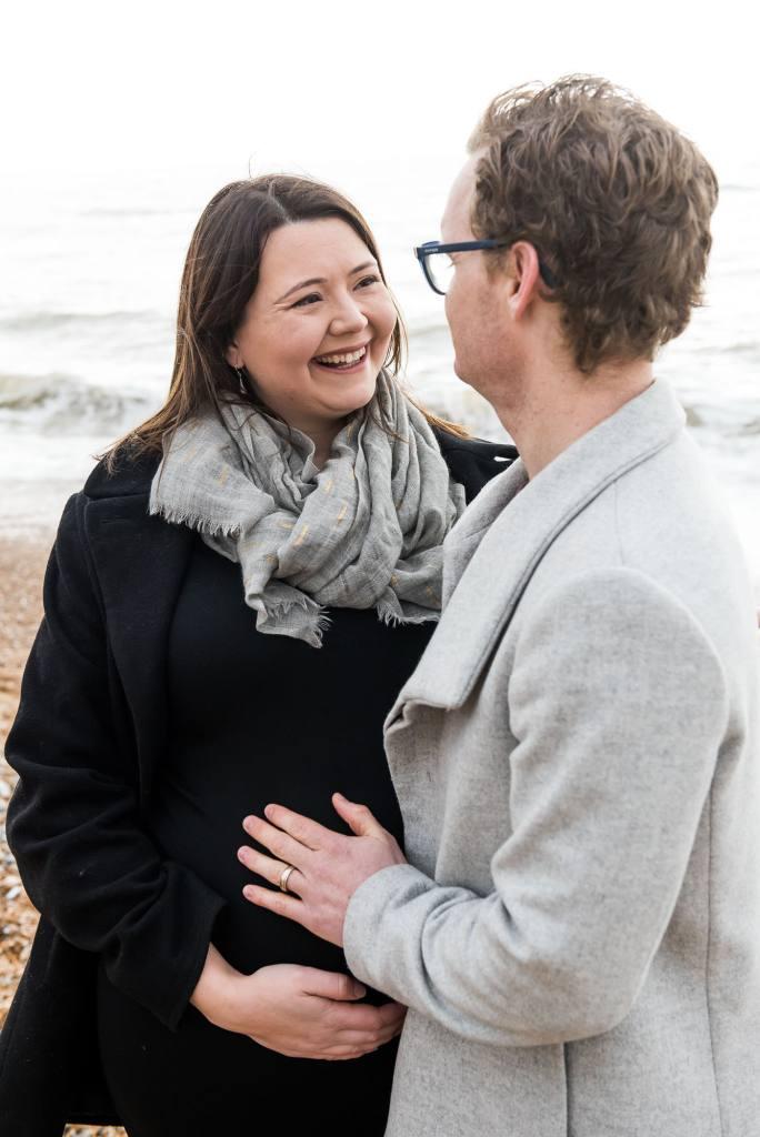 Candid maternity portrait Brighton