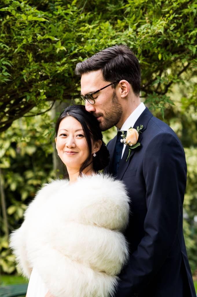 Natural wedding portrait London