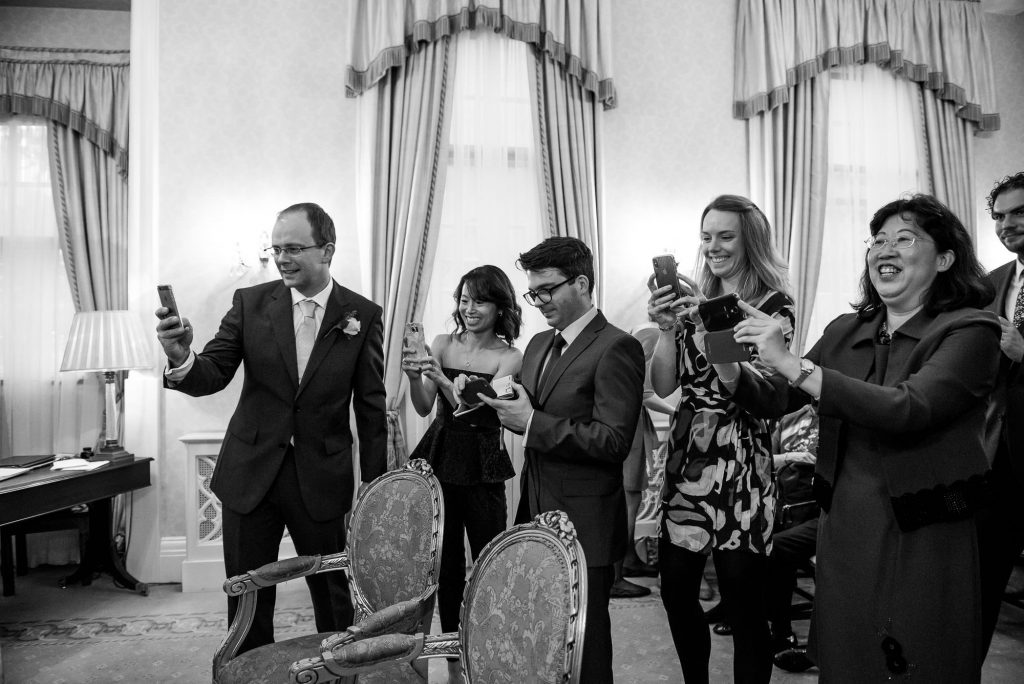 Guest photography at London wedding