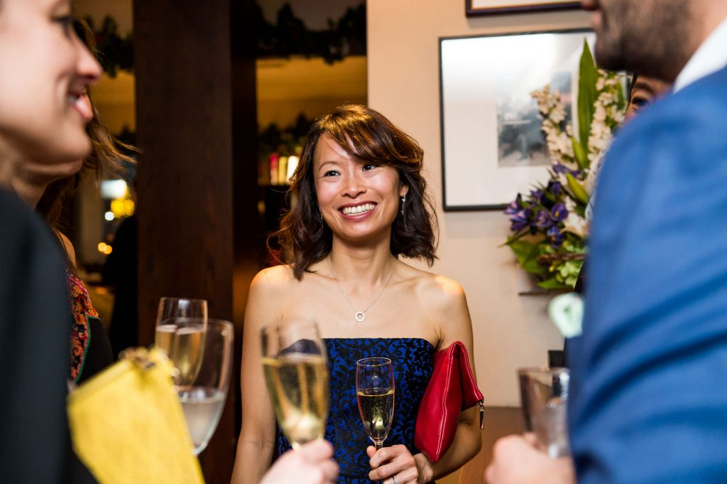 Candid wedding guest photography London