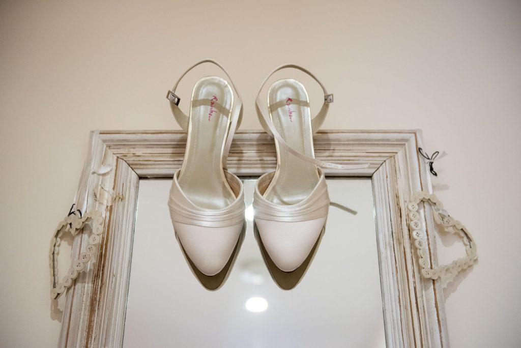 Ashridge House Wedding. Natural Wedding Photography. Bridal Rainbow Shoes, documentary bridal preparation photography.