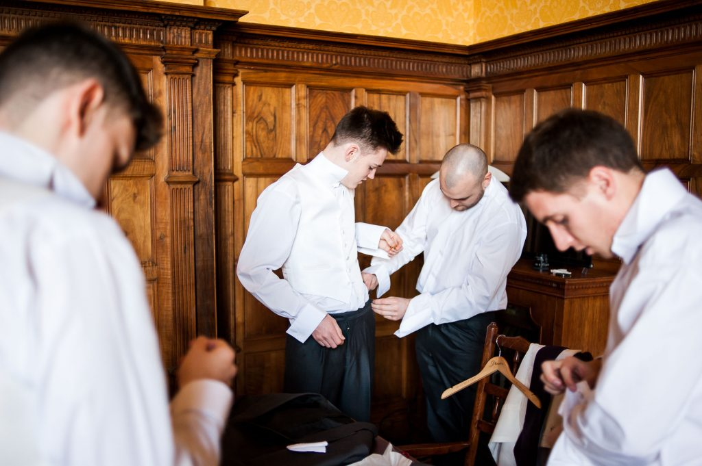 Ashridge House Wedding. Natural Wedding Photography. Documentary Groom preparation photography.