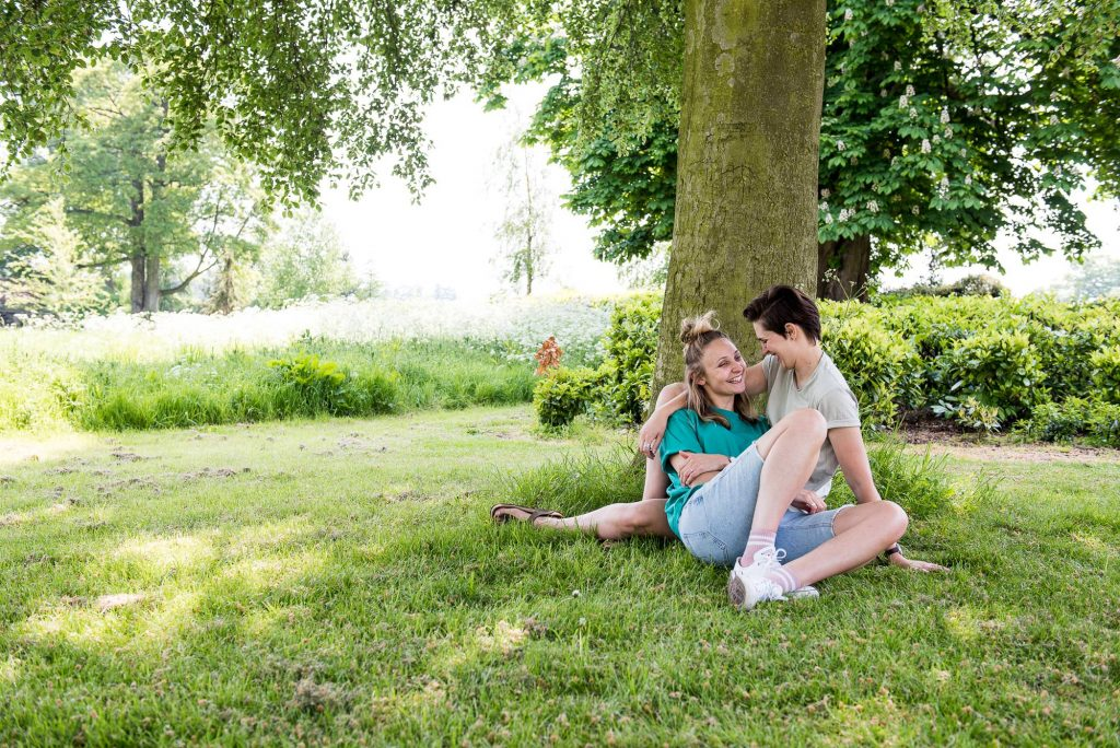 Cusworth Hall Engagement Shoot, Natural Portrait Photography. Same Sex Wedding Photography